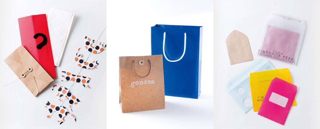 金森製袋紙工は手提げ袋封筒、紙袋・紙加工品など加工技術で応える専門工場です